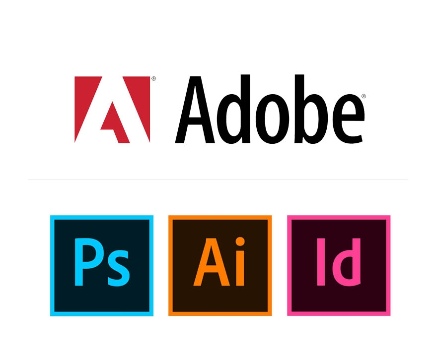 Adobe - Photoshop,Illustrator, InDesign